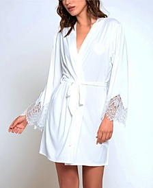 Ultra Soft Lace Trimmed Robe