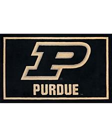 "Purdue Colpu Black 1'8"" x 2'6"" Area Rug"