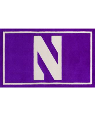 "Northwestern Colnw Purple 1'8"" x 2'6"" Area Rug"