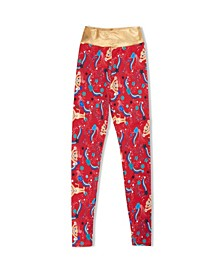 Little Girls Lioness Active Leggings with Waist