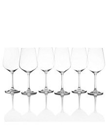 Gianna Red Wine Glasses, Set of 6