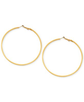 Image of GUESS Earrings, Large Hoop Earrings