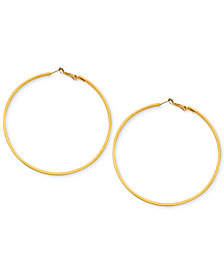 GUESS Earrings, Large Hoop Earrings