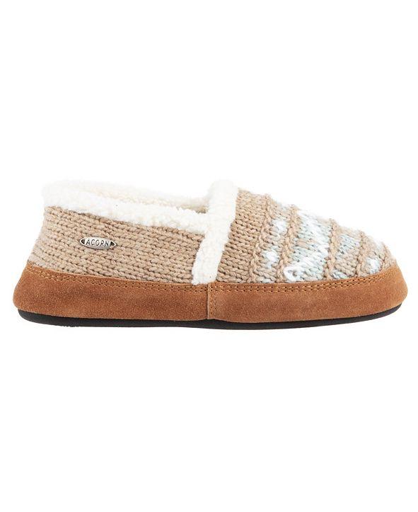 Acorn Women's Nordic Moccasin Slippers