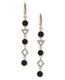 Gold-Tone Stone & Crystal Linear Drop Earrings