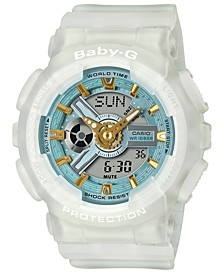Women's Analog-Digital Frosted White Resin Strap Watch 43.4mm