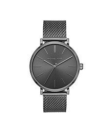 Men's Jayne Three-Hand Gunmetal Stainless Steel Mesh Watch 42mm MK7151