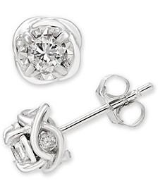 Diamond Stud Earrings (1/2 ct. t.w.) in 14k White Gold