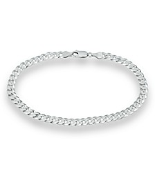 Curb Link Ankle Bracelet in Sterling Silver, Created for Macy's