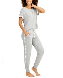 Ultra-Soft Contrast Trim Pajama Set, Created for Macy's