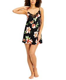 INC Floral Print Chemise Nightgown, Created for Macy's