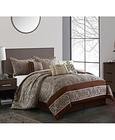 Amalfi 7 Piece Comforter Set, Queen