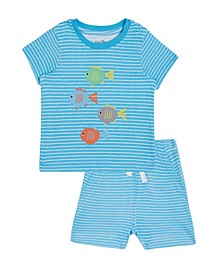 Earth by Baby Boys 2-Pc. David Fish Cotton T-Shirt & Printed Shorts Set