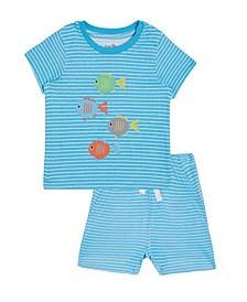 Baby Boys 2-Pc. David Fish Cotton T-Shirt & Printed Shorts Set