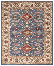 Antiquity At506 Blue and Red 8' x 10' Area Rug