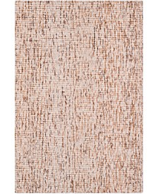 Abstract 468 Beige and Rust 4' x 6' Area Rug