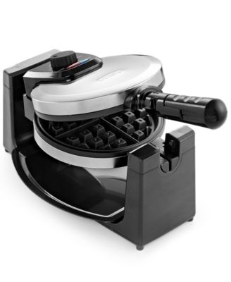 Delightful Bella 13991 Polished Stainless Steel Rotary Waffle Maker
