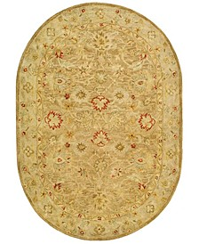 """Antiquity At822 Brown 4'6"""" x 6'6"""" Oval Area Rug"""