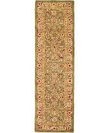 """Anatolia An523 Green and Red 2'3"""" x 14' Runner Area Rug"""