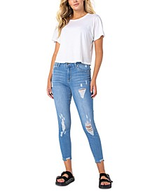 Ripped Skinny Ankle Jeans