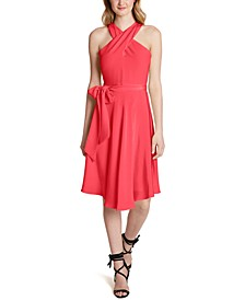 Crisscross Halter Dress