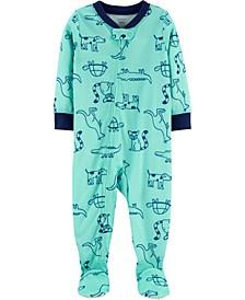 Baby Boy 1-Piece Dog Poly Footie PJs