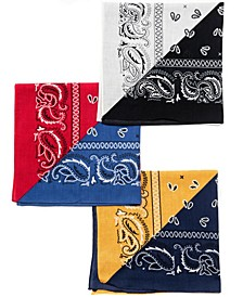 Color Block Square Bandana Set, 3 Pack