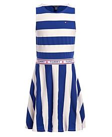 Big Girls Rugby Stripe Tank Dress
