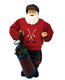 """12"""" Red Sweater Golfing Claus"""