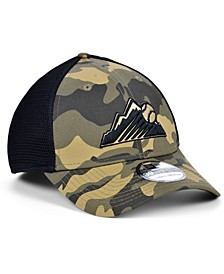 Men's Colorado Rockies Camo Neo 39THIRTY Cap