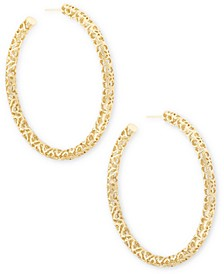 Large Openwork Tubular Hoop Earrings, 2.5""