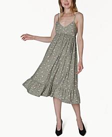 Juniors' Floral-Print Empire-Waist Dress