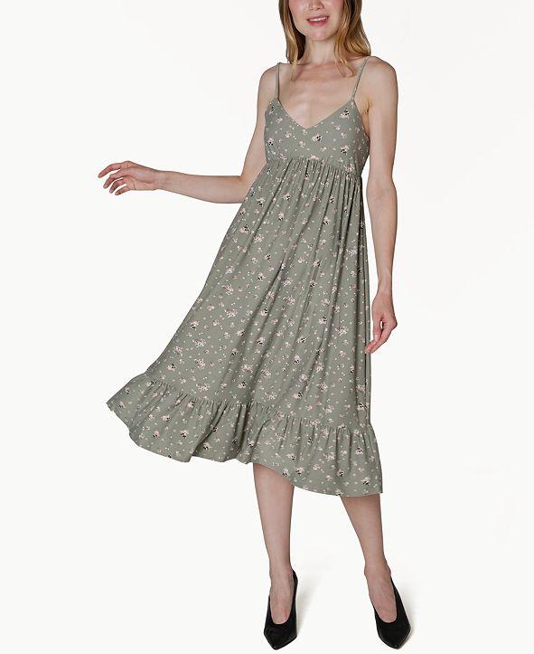 Ultra Flirt Juniors' Floral-Print Empire-Waist Dress