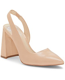 Analees Slingback Block-Heel Pumps