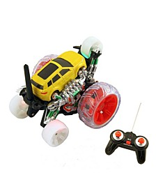 RC Spinning Truck with LEDs, Rechargeable