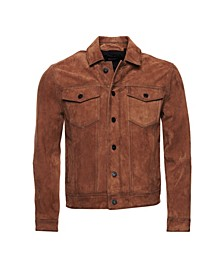 Men's Suede Highwayman Trucker Jacket