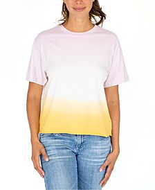 Juniors' Printed Dip-Dye T-Shirt