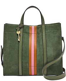 Women's Carmen Shopper Suede with Applique Stripe