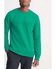 Men's Core Logo Faux Suede Loopback Sweatshirt