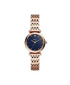 Women's Mini Carlie Rose Gold-Tone Bracelet Watch 28mm
