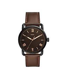 Men's Copeland Brown Leather Strap Watch 42mm