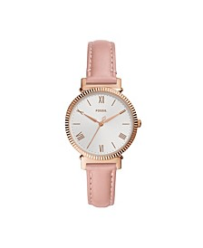 Women's Daisy Blush Leather Strap Watch 34mm