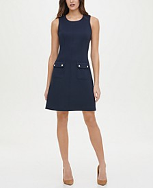 Pique Scuba Pocket Dress