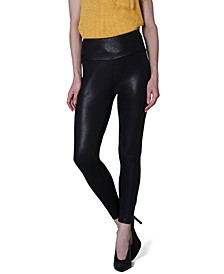 Juniors' Faux-Leather Leggings