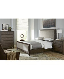Parker Mocha Upholstered Bedroom 3-Pc. Set (Queen Bed, Chest & Nightstand), Created for Macy's