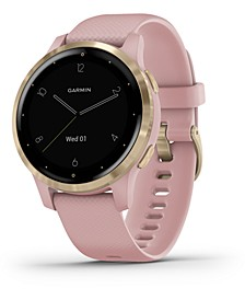 Women's vivoactive 4S Dust Rose Silicone Strap Touchscreen Smart Watch 30mm