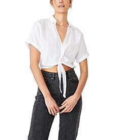 Sasha Tie Front Shirt