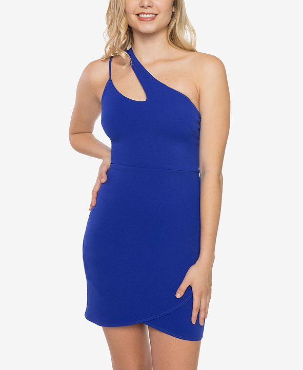 B Darlin Juniors' One-Shoulder Bodycon Dress