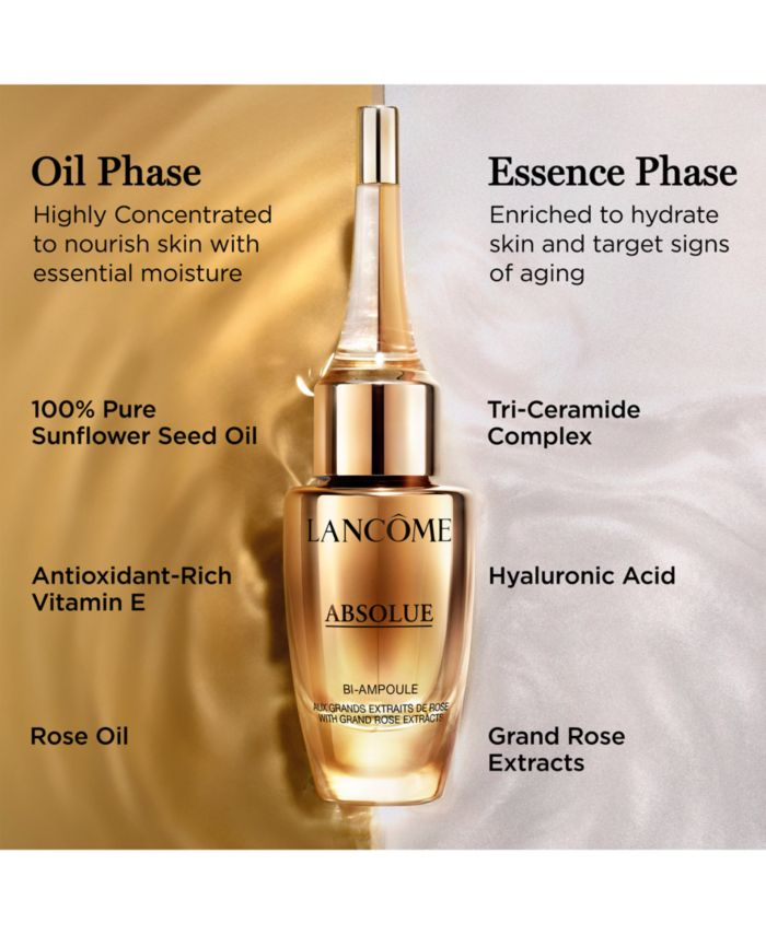 Lancôme Absolue Overnight Repairing Bi-Ampoule Concentrated Anti-Aging Serum, 0.4-oz. & Reviews - Skin Care - Beauty - Macy's