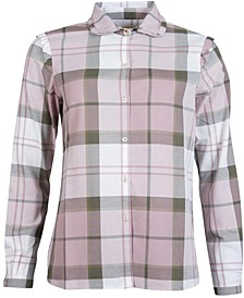 Norwood Plaid Ruffled Button-Down Shirt